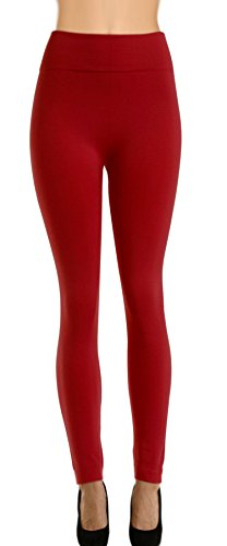 High Quality Solid Fleece Leggings for Regular and Plus Size 31LqKKGsVhL