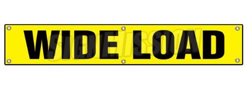 Wide Load Sign >> 72 Wide Load Banner Sign Wide Sized Large Caution Oversize Oversized Loads Truck Trailer Dot Safety