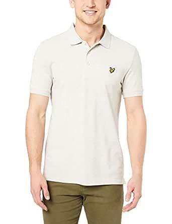 Lyle & Scott Polo Shirt Plain Polo, Größe:L, Farbe:Light Grey Marl ...