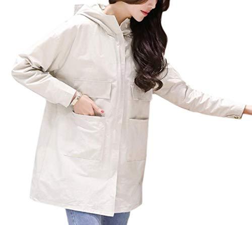 Breasted Casual Long Suede EKU Warm Coat Women 2 Lapel Double Parkas pW664Z