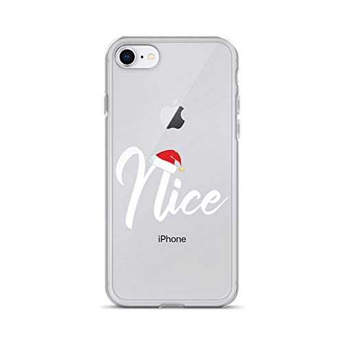 iPhone 7/8 Pure Clear Case Crystal Clear Cases Cover Matching Naughty Nice Long Sleeve List Transparent ()