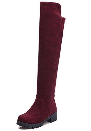 Wine Rouge Winter 36 EU HiTime Femme Santiags 5 qfwxEEt8C