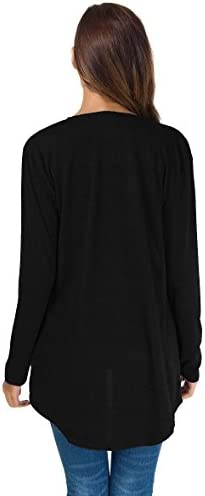 TownCat Cardigans for Women Loose Casual Long Sleeved Open Front Breathable Cardigans with Pocket 5