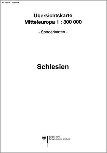 Karte von Schlesien: Sonderausgabe der Übersichtskarte von Mitteleuropa 1:300 000