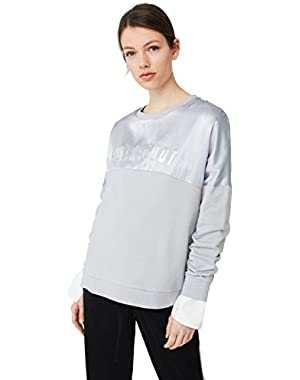 Mango Women's Satin Panel Sweatshirt