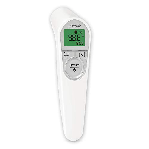 Microlife 3-in-1 Non-Contact Forehead Thermometer with Built-in Smart Accuracy Features for Adults, Kids & Babies
