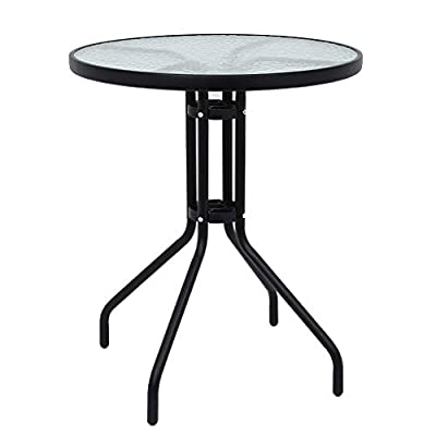 Mostbest Patio Bistro Table, Outdoor Tempered Glass Dining Tables, Outdoor Garden Furniture Set: Garden & Outdoor