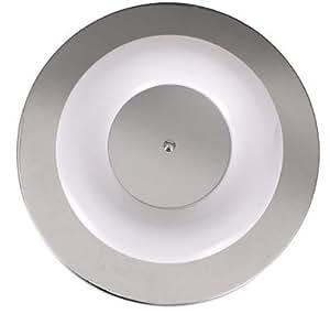 Plafón Fluorescente. T5 1x55w Incluido. Cromo. 46 cm Diámetro.