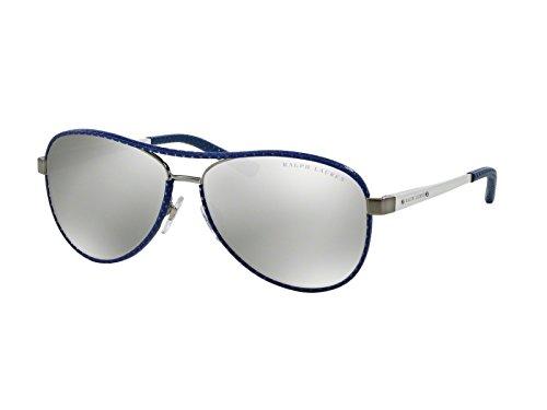 Ralph Lauren RL 7050Q Sunglasses Brushed Gunmetal / Gray Mirror - Ralph Lauren Mirror