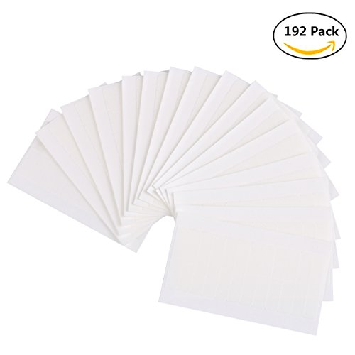 Kisslife 192 Pieces Hair Extension Tape Tabs Double Sided Extension Tapes for Replacement, Walker Tape No Shine Bonding Double Sided, 4 x 0.8 cm (White)