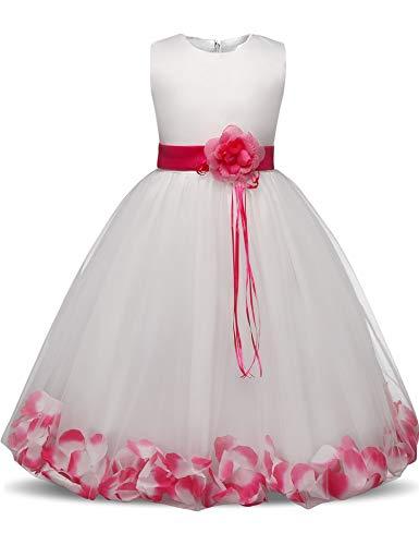 (Flower Girl Dresses for Wedding Girl Party Dress Costume for Kids School Girls Graduation Gowns Children,As Photo3,5)