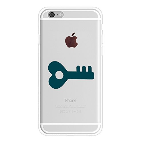Couple Cases Replacement for iPhone 8(iPhone 7),(Key) Boyfriend and Girlfriend Couple Matching Girl Stuff Cute Love Lock Key to My Heart Rubber Soft Cases