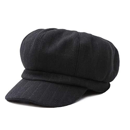 E.Joy Online Womens Wool Blend Visor Beret Fall Winter Newsboy Hat Ladies 8 Quarters Cabbie Cap -