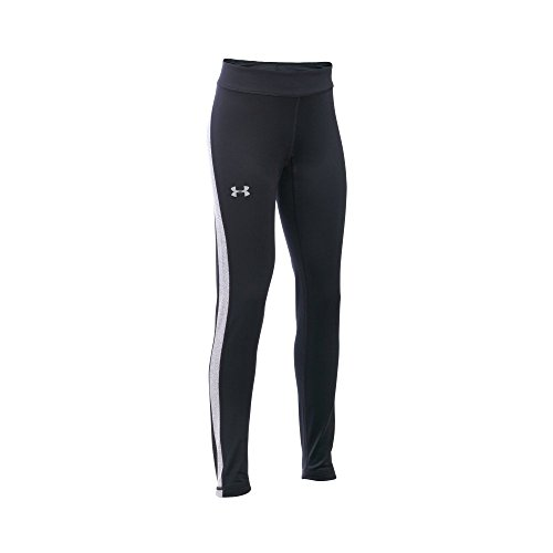 Under Armour Girls' ColdGear Armour Leggings, Black/Black, Youth X-Large