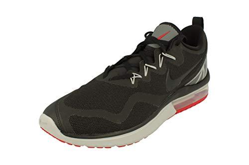 Nike Mens AIR MAX Fury Black Grey RED Size 10.5 (Red Grey And Black Air Max 95)
