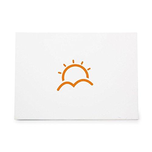 Ink 3910 - Sunrise Morning Start Sunshine Warm Style 3910, Rubber Stamp Shape great for Scrapbooking, Crafts, Card Making, Ink Stamping Crafts