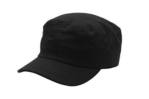 Quality Merchandise Cadet Army Cap - Military Cotton Hat, BLK