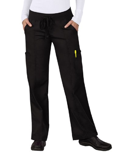 Med Couture Women's Comfort Collection Pant, Black, Medium Petite (Petite View All Shop)