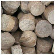WIDGETCO 1/2'' Walnut Wood Plugs, End Grain