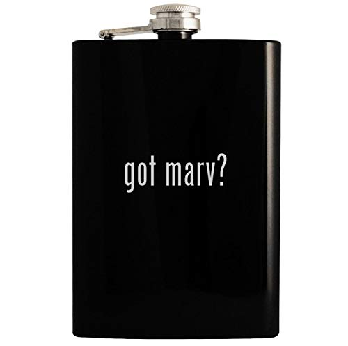 got marv? - 8oz Hip Drinking Alcohol Flask, Black (Messy Marv Cake And Ice Cream 2)
