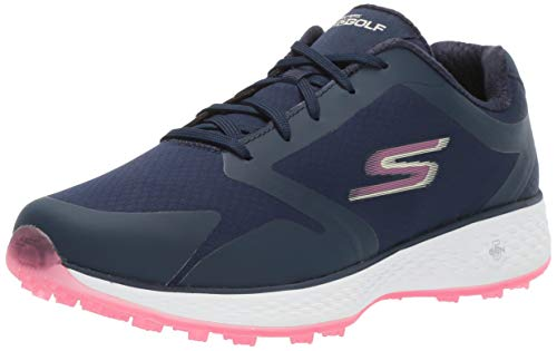 Skechers Women's Eagle Relaxed Fit Golf Shoe, Navy/Pink, 8.5 M US