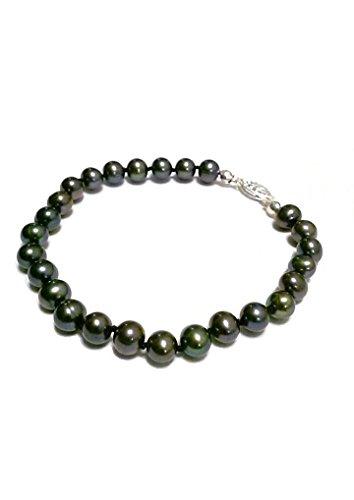 Pearl Fish Cultured Bracelets (Black Cultured Freshwater Pearl Bracelet)