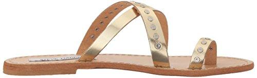 Steve Sandal Gold Ring Toe Madden Becky Leather Women 8wrxqz8U