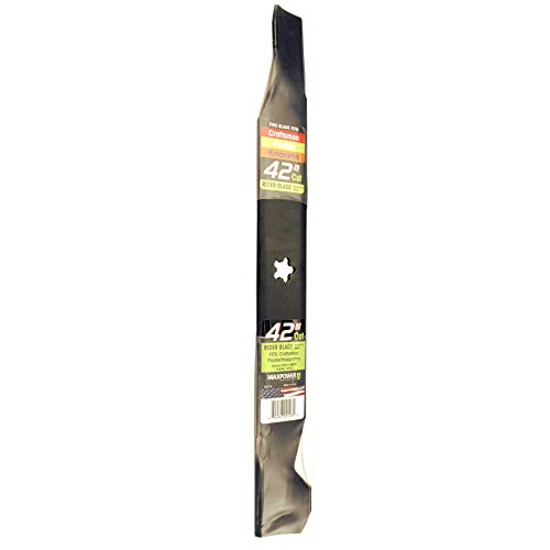 Maxpower 331713S Mower Blade for 42 Inch Cut Poulan/Husqvarna/Craftsman Replaces 138498, 138971, 138971X431, 532138971,  53-21278-43, and Many Others (Craftsman Blades)