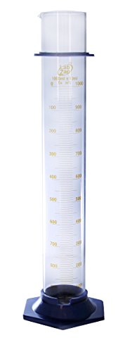 SEOH Graduated Cylinder Borosilicate Glass 2 Part- Capacity (ml) 1000