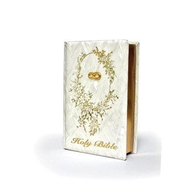 [BW1104GE WEDDING BIBLE GOLD RING ENG BRC1104GE] (Wedding Bible)