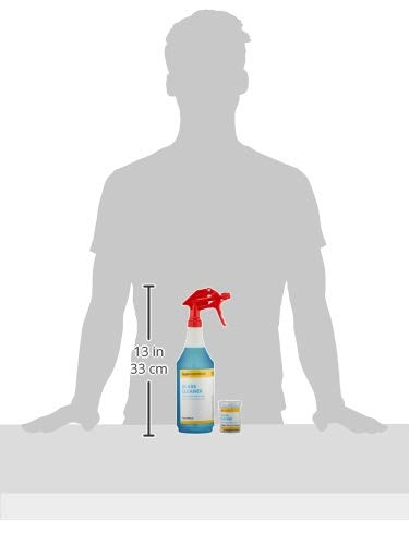 AmazonCommercial Dissolvable Glass Cleaner Kit with 3 Refill Pacs