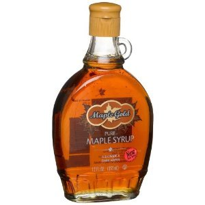 Maple House Gold Pure Maple Syrup Glass Bottles, 12.7OZ (Pack of 12)