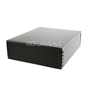 Lineco Museum Archival Drop-Front Storage Box, Acid-Free with Metal Edges, 14.5 X 18.5 X 3 inches, Black (733-2014)