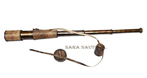 Sara Nautical Telescope King Kelvin & Hughes London 1917 Marine Spyglass Brass Antique from Sara Nautical