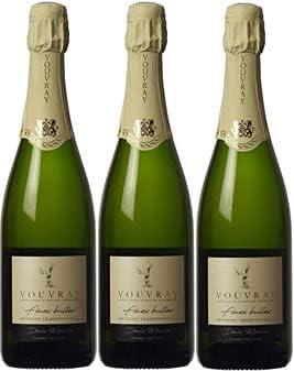 """Vouvray""""método tradicional de burbujas finas"""" recogida en lotes de 3 botellas de 75cl."""