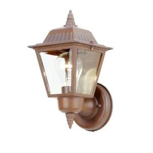 Hampton Bay Wall Mount 1 Light Outdoor Rustic Bronze Lamp