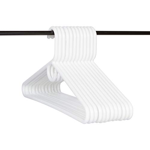 (Neaties USA Made Super Heavy Duty White Plastic Hangers, 12pk)