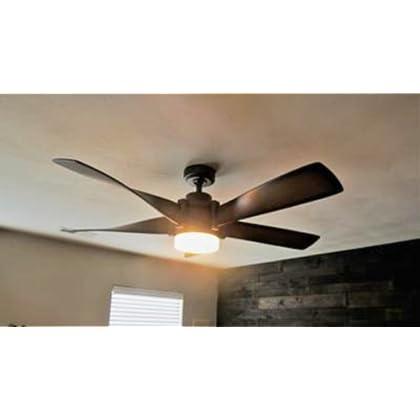 Kichler Lighting 52 In Mediterranean Walnut With Bronze Accents Downrod Mount Indoor Ceiling Fan