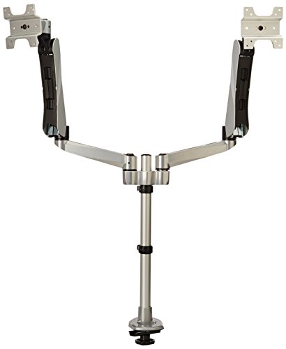 UPC 617401052967, Mount-It! Expandable Two Monitor Computer Desk Mount Spring Arm Quick Release with Grommet Base (MI-45111APL)