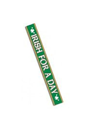 Mardi Gras St. Patricks Day/ Irish for a Day Sash 4in wide x 33in long