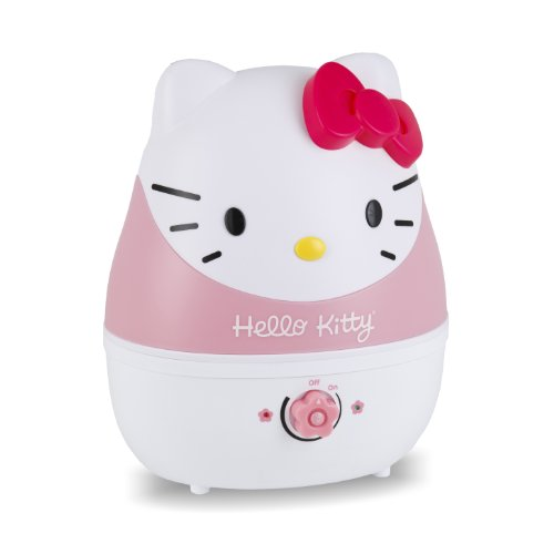 Animal Humidifier - Crane USA Humidifiers - Hello Kitty Adorable Ultrasonic Cool Mist Humidifier - 1 Gallon Adjustable Mist Output, Automatic Shut-off, Whisper-Quiet Operation for Home Bedroom Office Kids & Baby Nursery