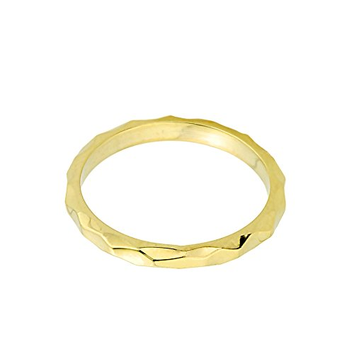 Solid 10k Yellow Gold Spike Band Baby Ring, Size 1.75