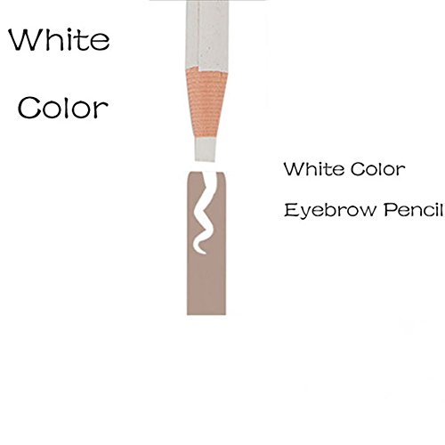 White Color Microblading Eyebrow Peel-off Pencil Soft Coloured White Pencil WaterProof Marker Liner Pen 2Pcs/Pack -