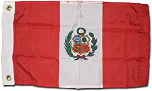 "Perú (Estado)–12""X 18"" bandera de nailon World"