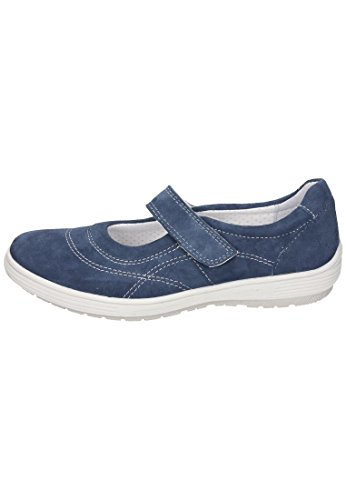 Slipper azul mujer Azul Comfortabel azul Comfortabel Damen Mocasines para Piel de EzqRz0