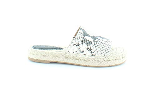 Coach Womens Claudia Open Toe Beach Espadrille Sandals, Beige, Size 5.5