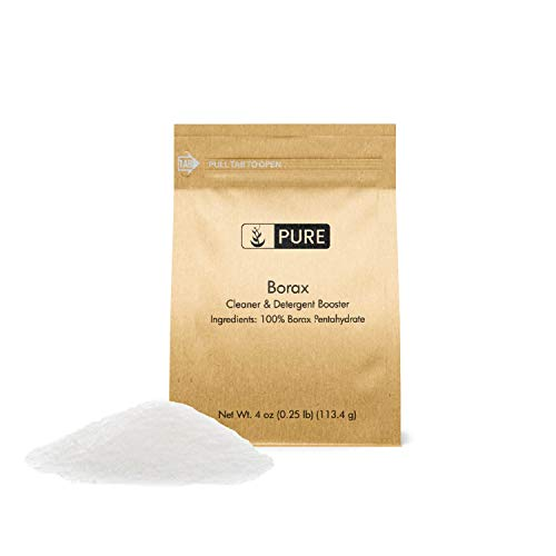 Borax Powder (4 oz.) by Pure Organic Ingredients, All-Natural Multipurpose Cleaner, Detergent Booster, Make Slime