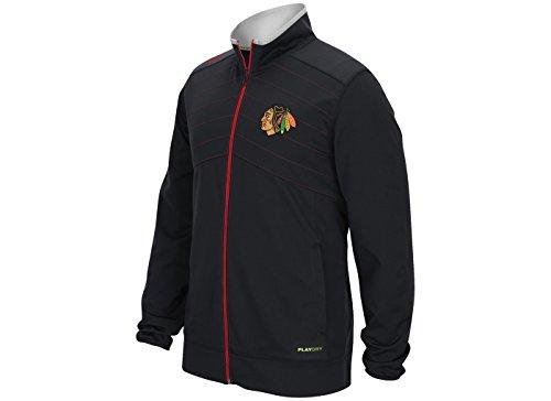 Reebok Men's Chicago Blackhawks Center Ice Warm up Jacket (XL)