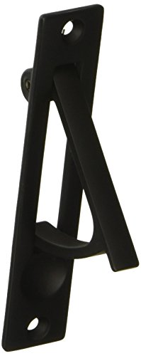 Baldwin 0465190 Edge Pull, Black - Edge Pull Pocket Door Lock
