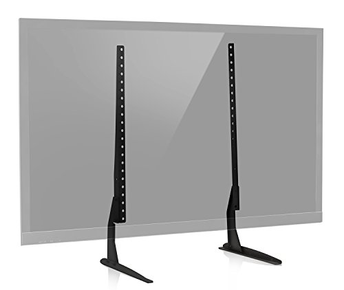 Mount-It! Universal TV Stand Base Replacement, Table top Pedestal Mount Fits 32 37 40 42 47 50 55 60 inch LCD LED PLASMA TVs, 110 Lb Capacity, VESA 800 x 400mm (MI-849) (50 Lcd Tv Stand)